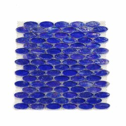 Stellt Design Hotel Guest Room Decoration Oval Glass Mosaic Her