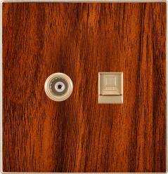 Britischer Standard Fernsehapparat plus die Telefon-Kontaktbuchse flach (N5)