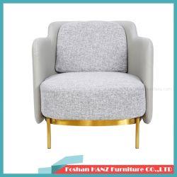 Mobilia d'acciaio dorata di cuoio stabilita della presidenza del salone del sofà dell'ingresso dell'hotel