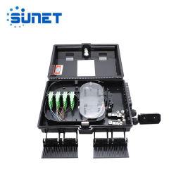 고품질 1X16 쪼개는 도구를 가진 실내 옥외 FTTH 16 포트 Soliter 광섬유 배급 종료 상자