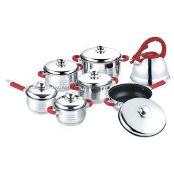 焦げ付き防止鍋が付いている14 PCSのステンレス鋼の台所用品の調理器具