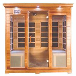 4 personne Sauna infrarouge de pruche canadienne de chauffage en fibre de carbone
