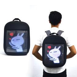 Luz de cores da moda Linli Display LED programáveis Saco mochila para publicidade