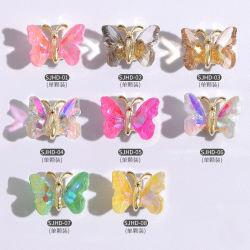 La belleza de uñas de cristal Glitter Nails uñas falsos