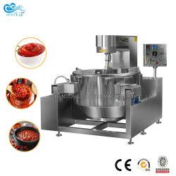 Automático de gran capacidad de inclinación de la industria eléctrica de gas de cocina salsa máquina mezcladora