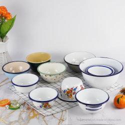 고품질 페인트 에나멜 볼 맞춤형 주방용품 디너 플레이트 머그컵 과일 그릇