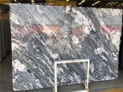 الصين جبارانا فانتاسي رذاذ الجرانيت الأسود اللون لمطبخ سطح الطاولة قص إلى حجم البلاط لحائط الأرضيات