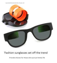 Plástico de colores de neón promoción Precio barato de plegar la Slap Slapsee gafas de sol polarizadas 2020