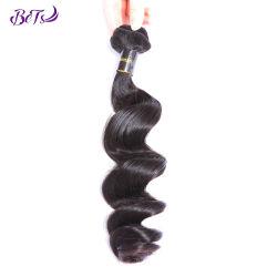 Ondas soltas de espessura da peça de cabelo natural brasileiro Non-Remy barbeiro