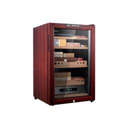 대형 목재 보관함 유리 도어 디스플레이 전동 로커 와인 및 Cigar humidor 캐비닛