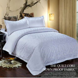 60s 300tc 면 자카드 직물 침대 시트 호텔 깃털 이불 덮개 침구는 100%년 면을 놓았다
