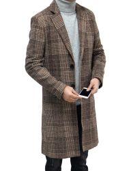 Gilet à revers manches longues et motif écossais taille moyenne pour homme de Shangyan extérieur Usure