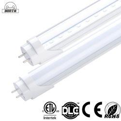 T8 4ft LED 튜브 전구, 18W 5000K 자연광 화이트, 4피트 형광 튜브 교체, 밸러스트 바이패스, 듀얼 엔드 파워, 투명, 차고 창고 조명