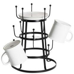 ホーム装飾のカウンタートップのカップ・ホルダーのハンガーの木の立場のコーヒー・マグラック