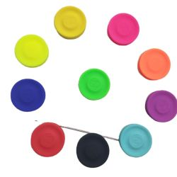 Venda a quente Custom plástico pequeno Mini desportos ao ar livre Dog Brinquedo Silicone Disco Frisbee Arvorando Ring
