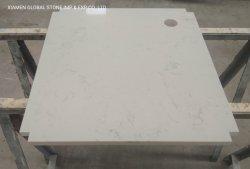 Technischer Quartz London Sky Custom White Mini Bar Unit Tisch Arbeitsplatte für Hospitality Inneneinrichtung