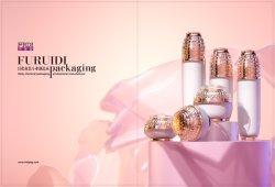 Pulvérisateur de la pompe d'or 30ml 60ml Cercle bouteille en plastique vide de Parfum flacons de lotion pour les cosmétiques