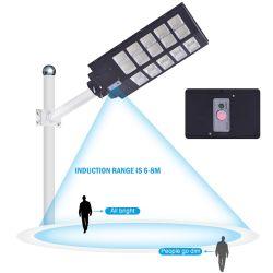 Waterdichte LED voor buiten, IP65, 100 W, 200 W, 300 W, 400 W, 500 W, alles In één zonnelamp met bewegingssensor