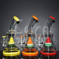 Esigo 매일 사용 창조적인 다채로운 Hookah 한덩어리 의장 유리제 연기가 나는 수관