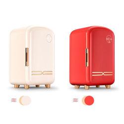 新しい 12L の注文の携帯用ピンクの化粧品の冷蔵庫小型冷蔵庫