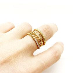 10K 14K 18K Solid Gold 925 Verzilverd stapelbaar Fashion Ring Fashion Jewelry