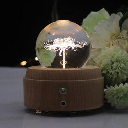 2021 중산 선물 집 장식 야간 램프 배터리 LED 나무 램프 베이스 D70mm K9 크리스탈 볼 무드 조명