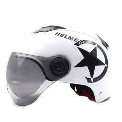 Casco de motocicleta chalecos casco de motocicleta scooter moto cara la mitad de gorra de béisbol de Seguridad Anti-UV casco duro