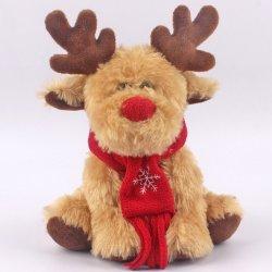 Holiday Toys 25cm sentado peludo macio animal Stuffed Deer Natal Peluche