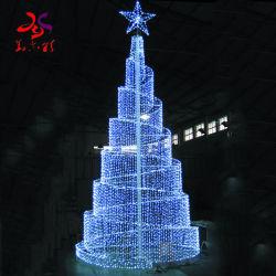 Impermeable al aire libre más grande de la luz de LED gigantes árboles de navidad con una estrella de la celebración