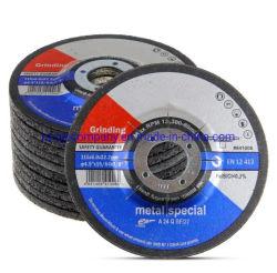 Herramientas eléctricas accesorios 4-1/2 pulgadas por 1/4 de pulgada, el metal de acero inoxidable INOX Disco amolador Centro deprimido de la rueda de moler