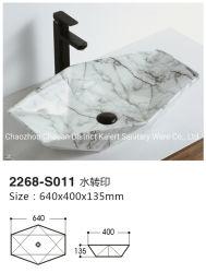 Badkamer Sanitair waren marmer patroon Handmade Countertop gootstenen
