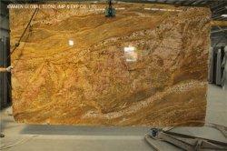 La India Imperial real losas de granito de oro para la encimera de cocina baño vanidad Tops