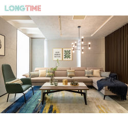 L Shape Corner Modern Fabric 커버 3인승 패션 소파 기능하는 안락 의자 거실 가구
