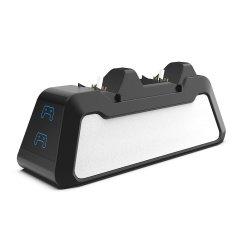 Playstation 5PS5 듀얼센스 조이스틱 게임플레이스타드용 충전기 스탠드 도크 도킹 스테이션 충전