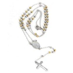 Vergoldet Perlen Halskette für religiöse lange Verstellbare Halskette für Männer Frauen