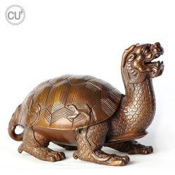 Bronzen beeldhouwkunst Schildpad en draak voor Home Decoratie