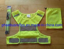 En13356 Reflektierende Sicherheitsgurt Fahrsicherheitsweste Fahrradfahren Set