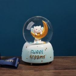 Polyresin ремесел океана о пневматическом снегоочистителе серии земного шара с кают для туристических сувениров Custom подарки