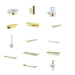 Cremagliera di tovagliolo del supporto del documento della stanza da bagno dell'insieme completo di colore dell'oro (3900FA)