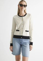 샹얀 여성들 가을 작은 향기 골드 버튼 카디건 대비 빈티지 스웨터 슬림 핏 라지 씬 스타일 셔츠