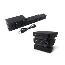 Playstation 4のPS4プロゲームコンソールのための温度の冷却ファンUSBのハブのゲームキット