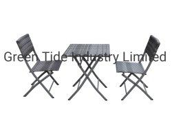 Cadeira de vime dobrável Piscina Home móveis de vime para o pátio com jardim