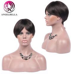 Pelucas de Cabello Remy brasileño Angelbella Densidad 150 para el verano de llevar el cabello humano breve recta peluca peluca pelo natural para las mujeres negras