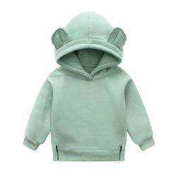 أطفال بتصميم لطيف مخصص مصنوع من القطن الطويل 100% هودي قميص للبنات