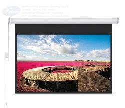 120 pouces HD écran de projection mural électrique/l'écran de projection motorisé avec carter en aluminium/projecteur écran avec la RF