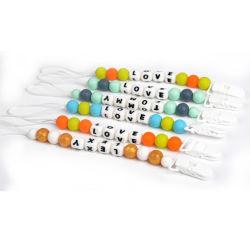 Clip variopinta della catena della tettarella del bambino della clip di plastica sveglia del nastro di salute di sicurezza