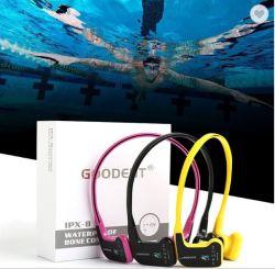 방수 수중 헤드폰 Bluetooth 5.0 무선 MP3 뼈 유도 이어폰 선수를 취소하는 소음