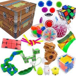 Alivio de tensión y Anti-Anxiety Tools Bundle para niños adultos juguetes de silicona Fidget sensorial Pack Set