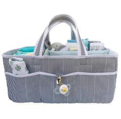 Momie bébé portable élégant pépinière Diaper Caddy grand panier de stockage de l'organiseur Voyager sac fourre-tout pour bébé de table à langer et voiture