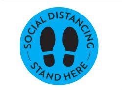 OEM/ODM de sociale het Op een afstand houden Teller van het Teken van de Vloer van de Afstand van de Veiligheid van het Overdrukplaatje van de Vloer